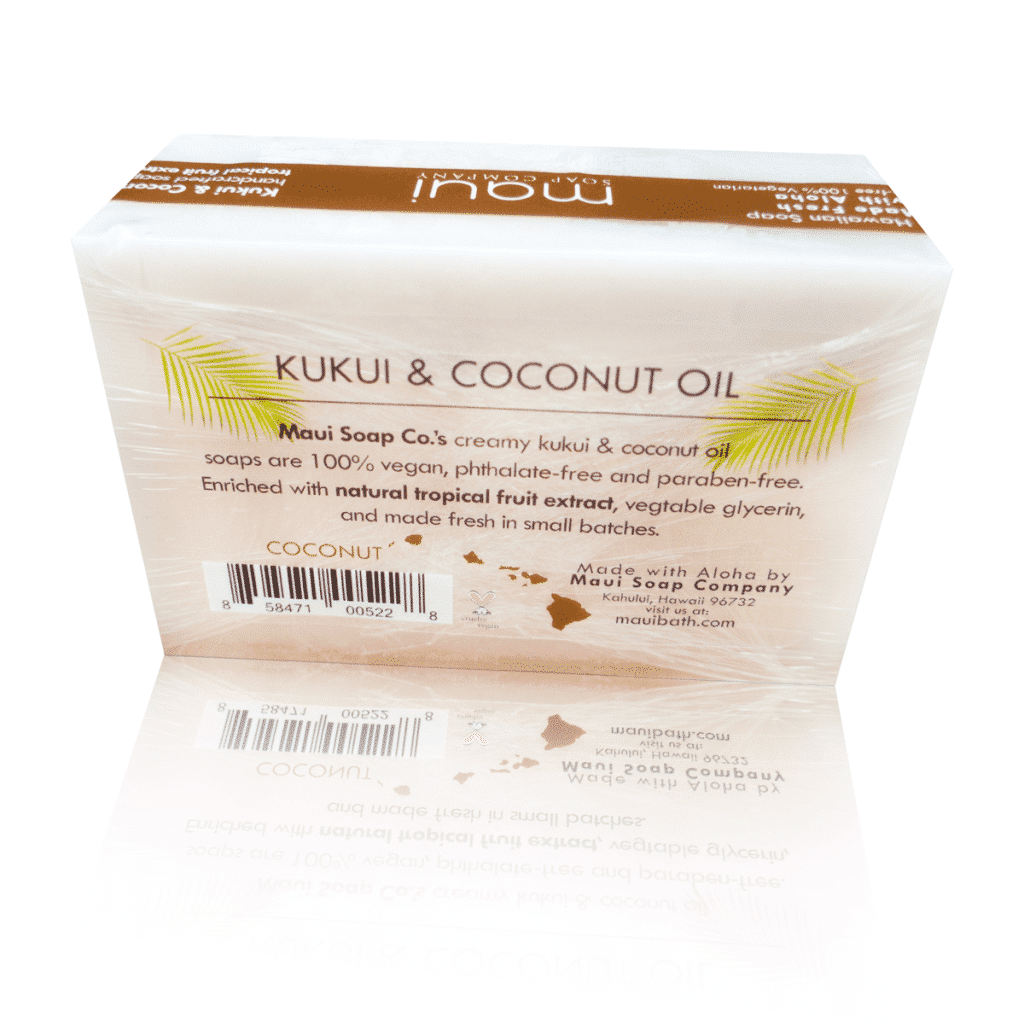 Hawaiian Soap - Coconut with Kukui & Coconut Oil - Maui Soap Co