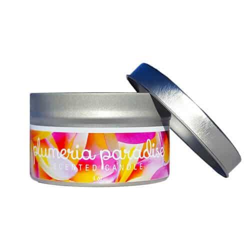 Plumeria-Paradise Travel Tin Candle