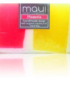 Plumeria Hawaiian Organic Coconut Oil Soap - Maui Soap Company
