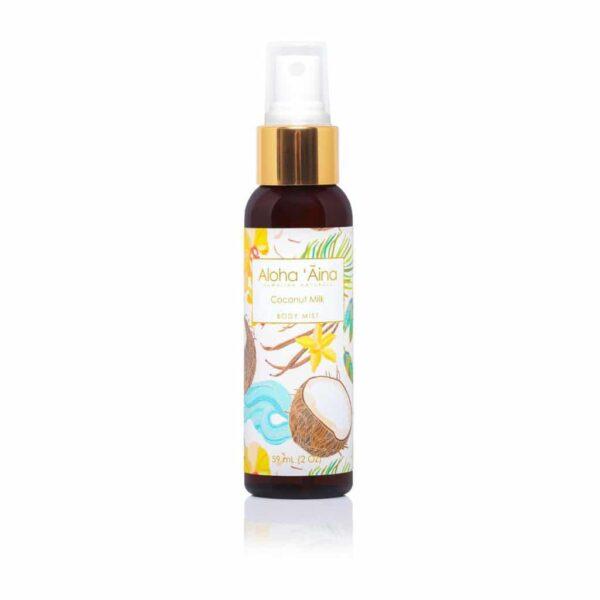 coconut milk Body Mist, Aloha 'Aina Hawaiian Aromatherapy, 2 oz