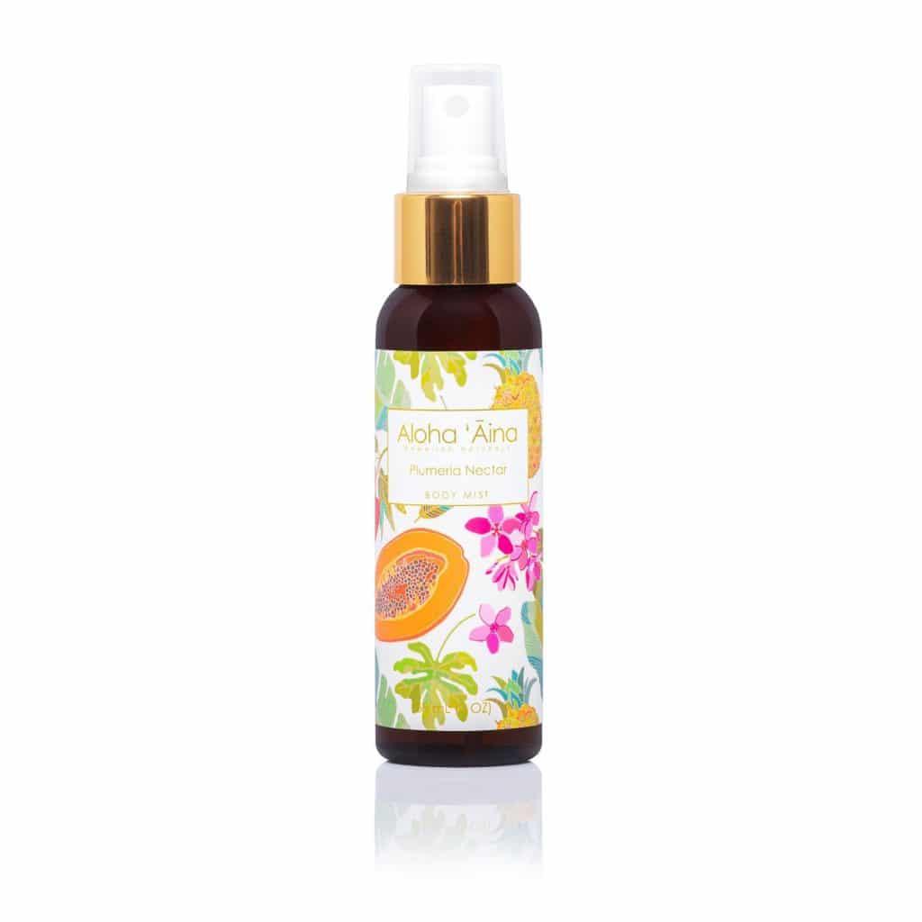 Plumeria Nectar Body Mist, Aloha 'Aina Hawaiian Aromatherapy, 2 oz