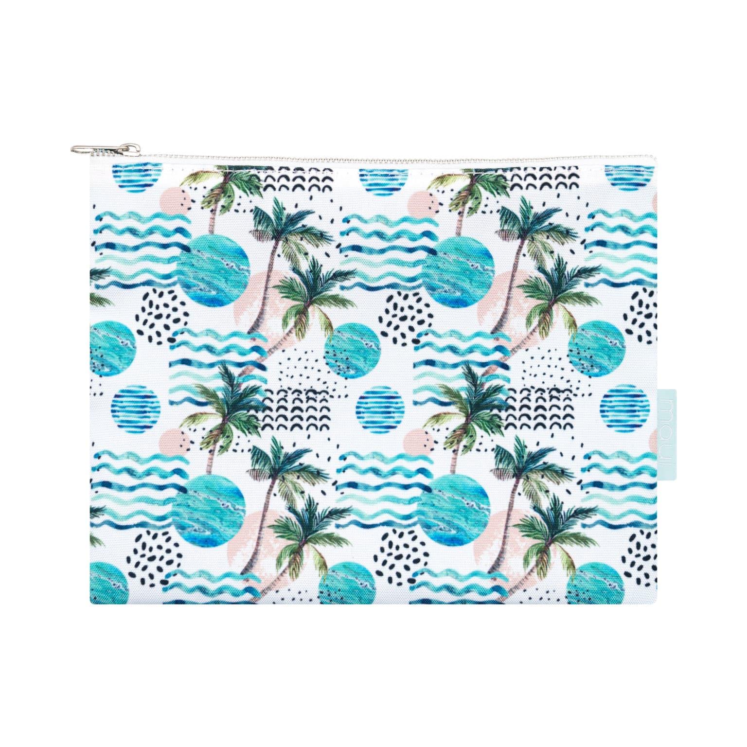 Aloha Hawaiian Pouch Bag Palm Tree Print Front