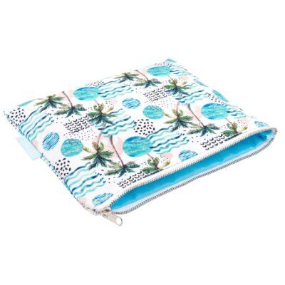 Aloha Hawaiian Pouch Bag Palm Tree Print Inside