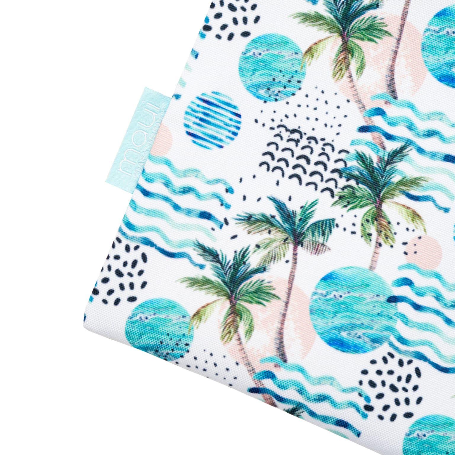 Aloha Hawaiian Pouch Bag Palm Tree Print Side
