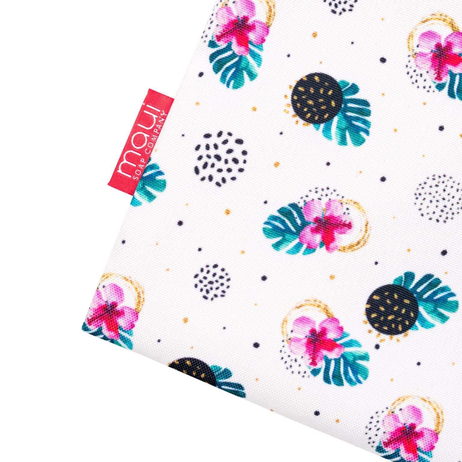 Aloha Hawaiian Pouch Bag - Hibiscus Dot Print Side