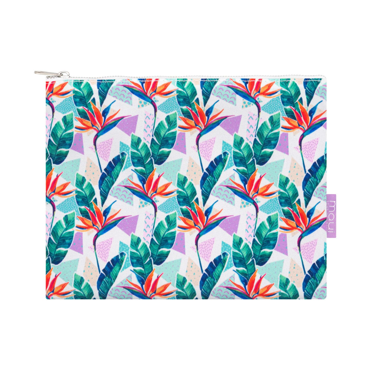 Aloha Hawaiian Pouch Bird of Paradise Print